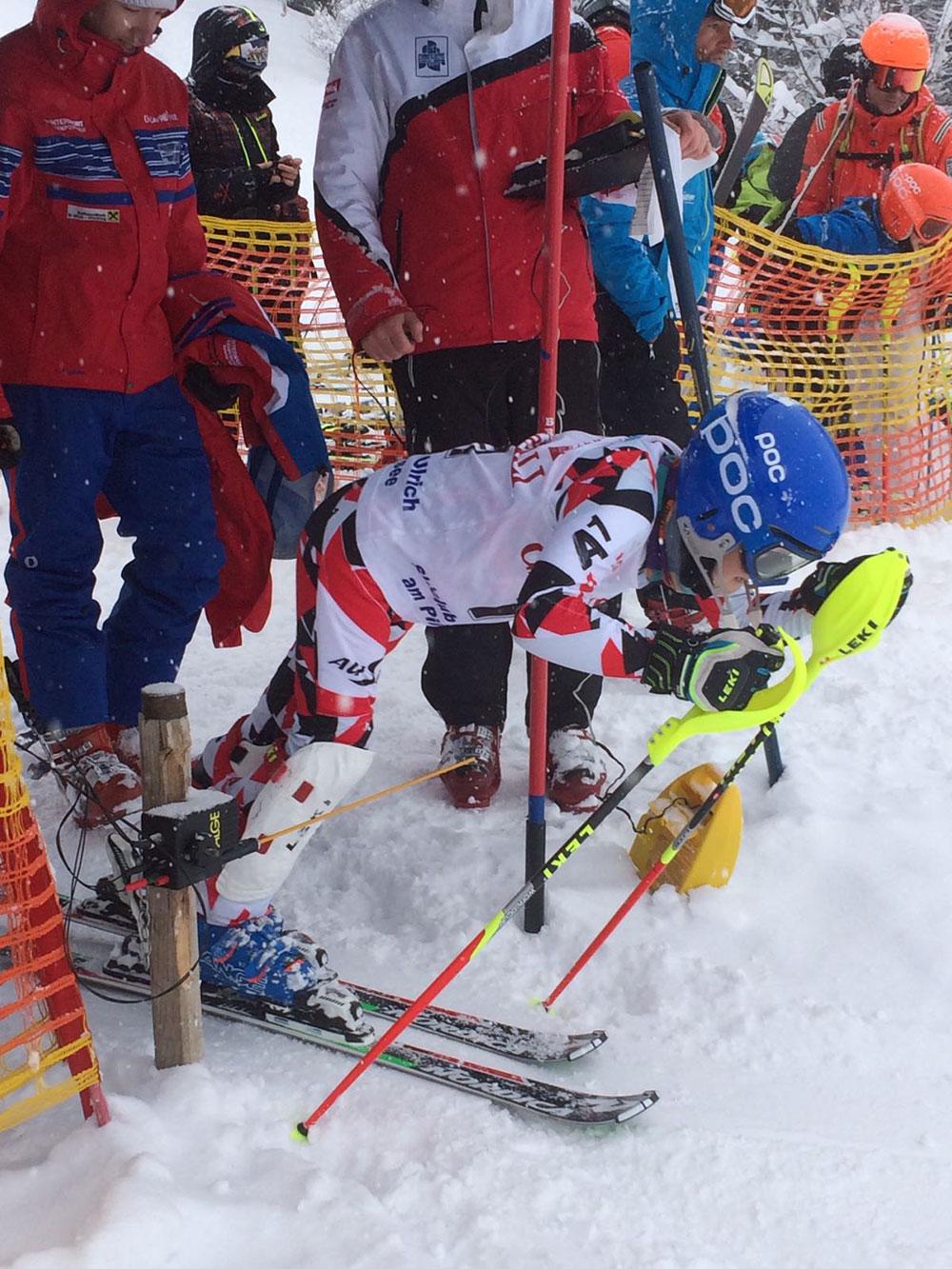 Steiger Lorenz - Start Skirennen