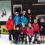 Schüler Bezirkscup - Fieberbrunn 7. Jänner 2018 - Läufer TG PillereeTal mit Trainern